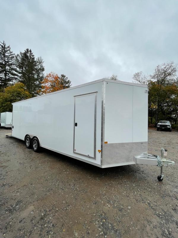 "2022 EZ Hauler 8.5x24 +3 ft V-nose/ FULLY Aluminum Car Hauler/9990gvwr/12"" extra height"