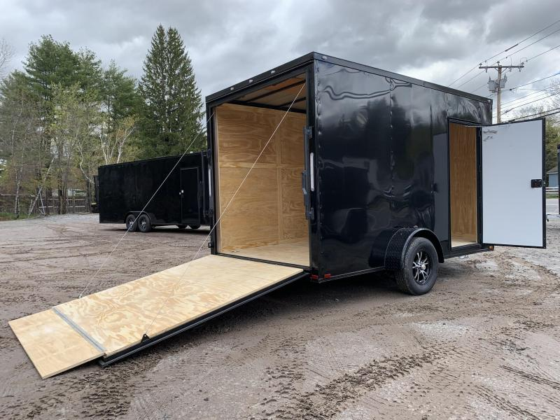 "2021 Spartan 7X12 +2ft Vnose/12"" extra height/blackout/braked axle/undercoated/ramp"