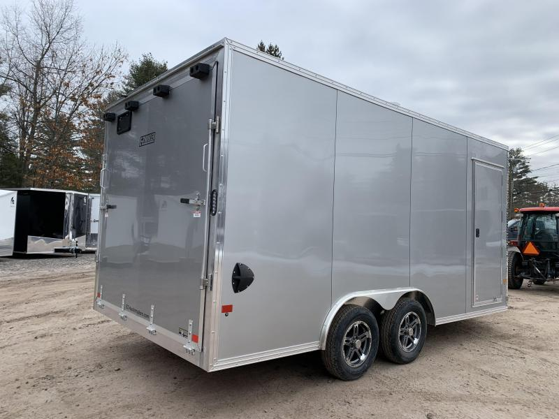 "2021 EZ Hauler 8.5x16 +3 ft V-nose/Aluminum Car Hauler/7000gvwr/12"" extra height"