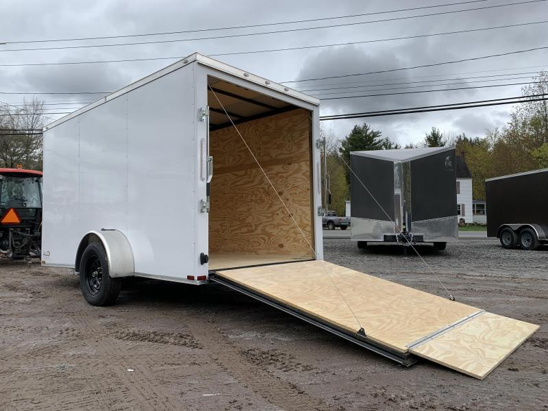 """2021 Spartan 6x12 +2ft V-nose trailer/3"""" extra height/undercoated/2990gvwr"""