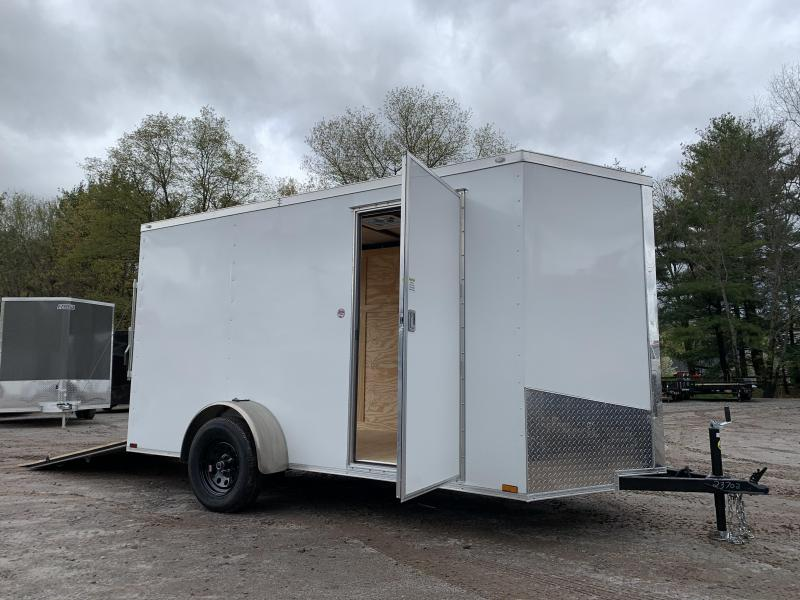 "2021 Spartan 6x12 +2ft V-nose trailer/3"" extra height/undercoated/2990gvwr"