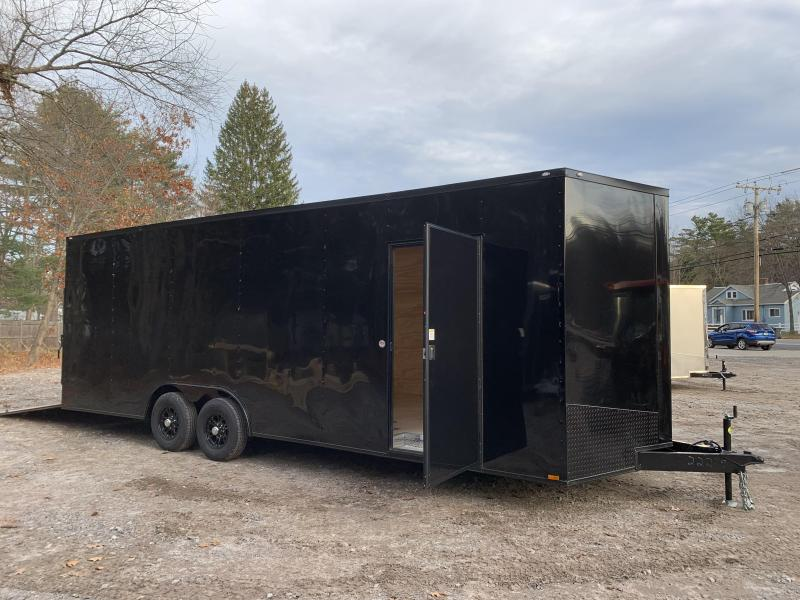 """2021 Spartan 8.5X24+2ft V trailer/18"""" extra height/9990gvwr/undercoated"""