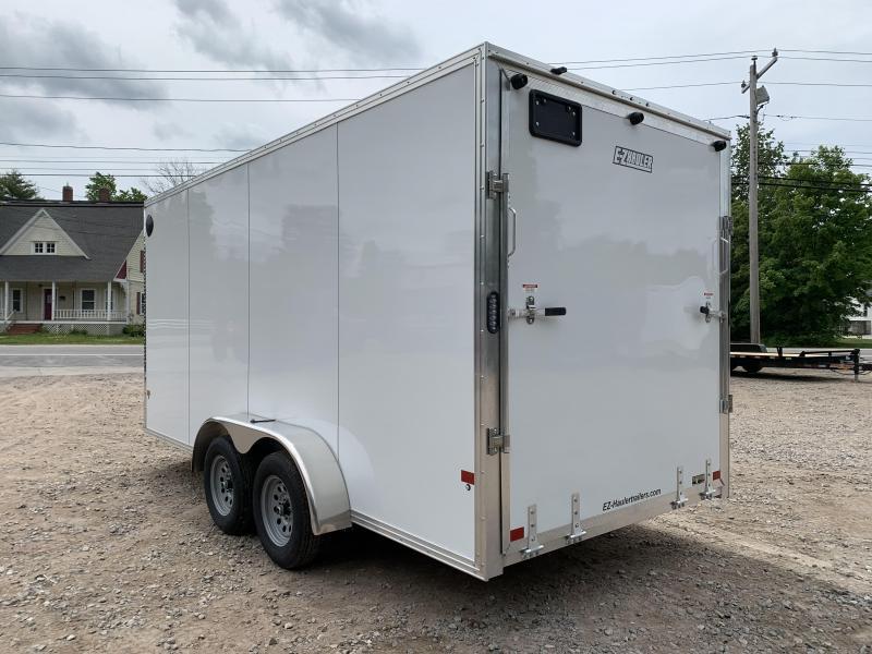 """2021 EZ Hauler 7X16+2 ft V-Nose Fully aluminum trailer/12"""" extra height"""