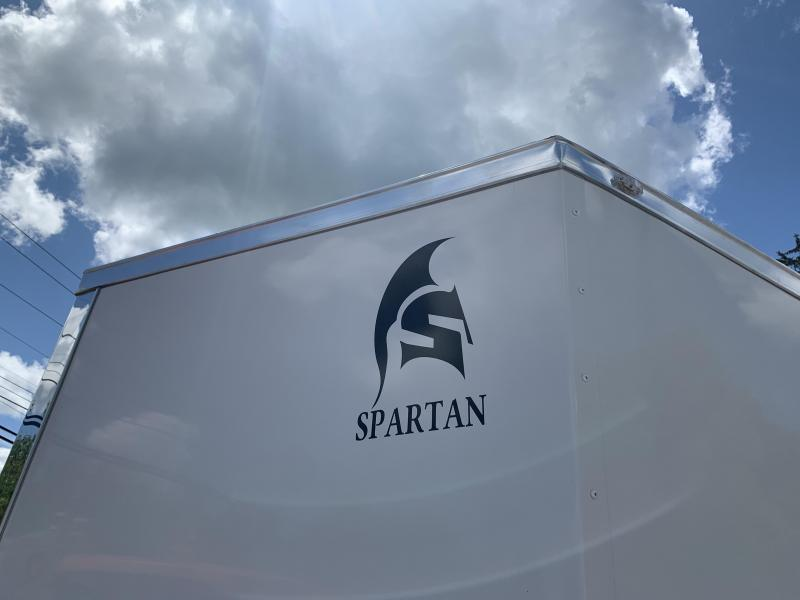 """2021 Spartan 7x14 +2ft V-nose/12"""" extra height/undercoated"""