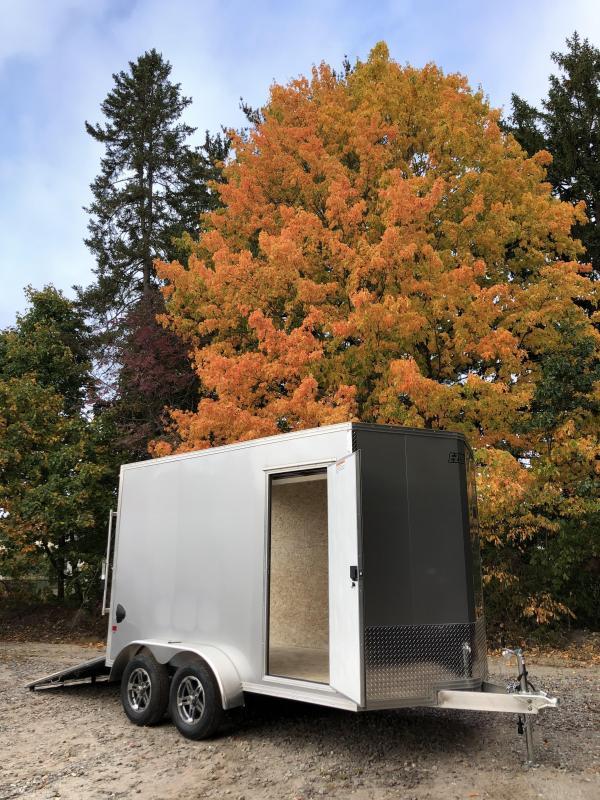 "2021 EZ Hauler 7X12 +2 ft V-Nose Aluminum trailer / 12"" extra height"