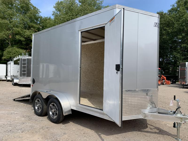 "2021 EZ Hauler 7X12 +2 ft V-Nose Aluminum trailer / 12"" extra height"