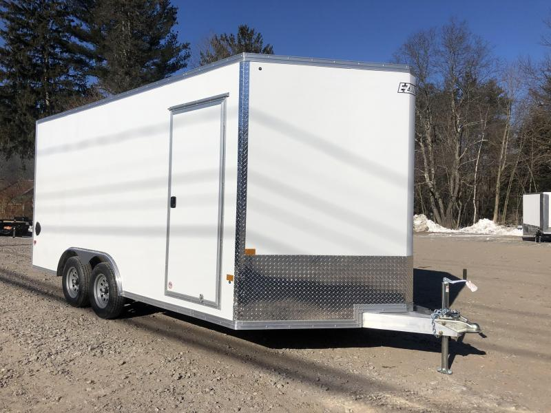 "2021 EZ Hauler 8.5x16 +3 ft V-nose/Aluminum Car Hauler/7000gvwr/12"" extra height"
