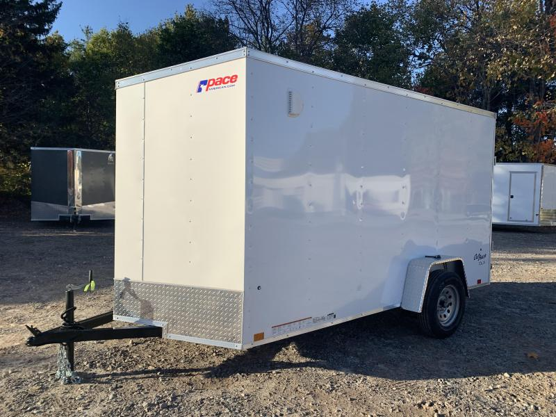 "2021 Pace American 6x12 +2ft v-nose/6"" extra height/undercoated"