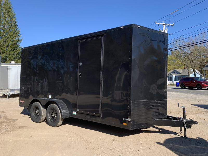 2021 Cargo Mate 7X16 +2ft V-nose 7' interior/blackout/Utv Package/Stabilizer jacks