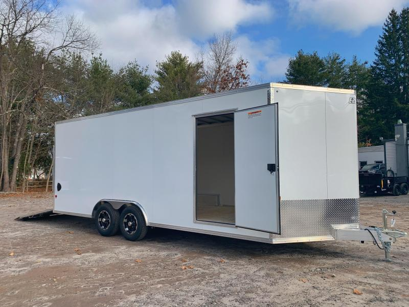 "2021 EZ Hauler 8.5x20 +3 ft V-nose/Aluminum Car Hauler/9990gvwr/12"" extra height"