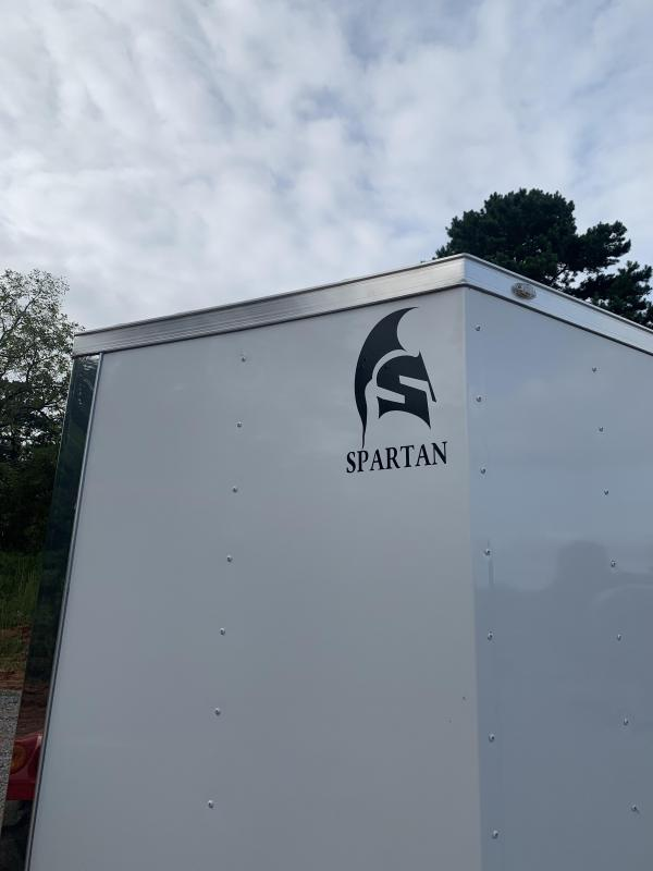 "2021 Spartan 6x12 +2ft Vnose 6"" extra height / ramp door"