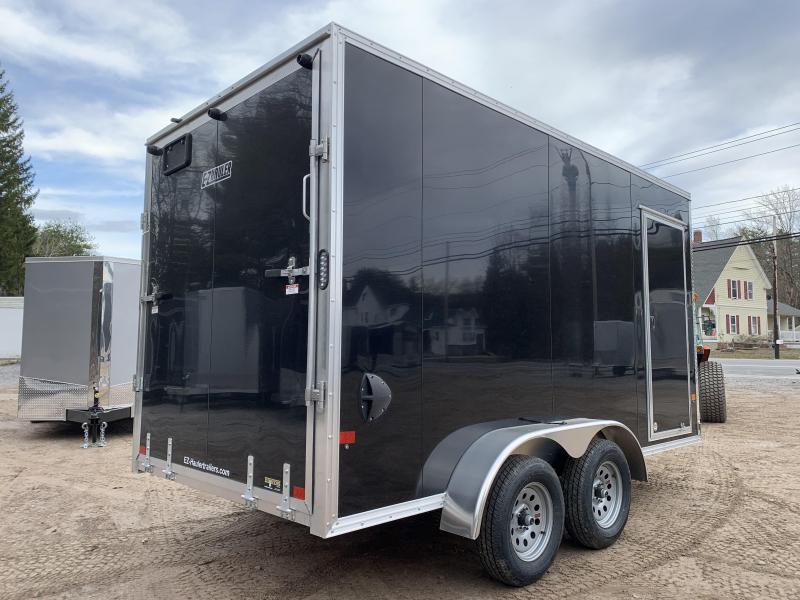 """2021 EZ Hauler 7X14 +2 ft V-Nose DuraLite/fully aluminum trailer/12"""" extra height"""