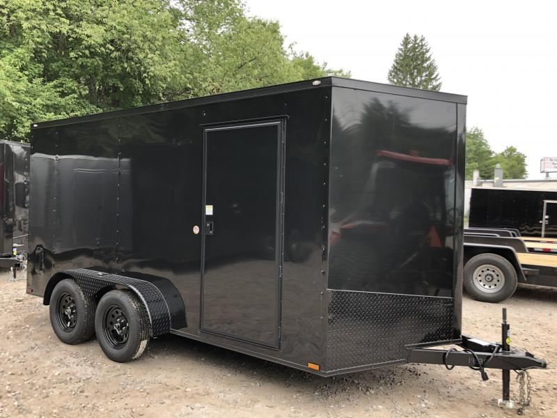"2021 Spartan 7X14 +2ft V trailer /Blackout/6"" extra height/undercoated"