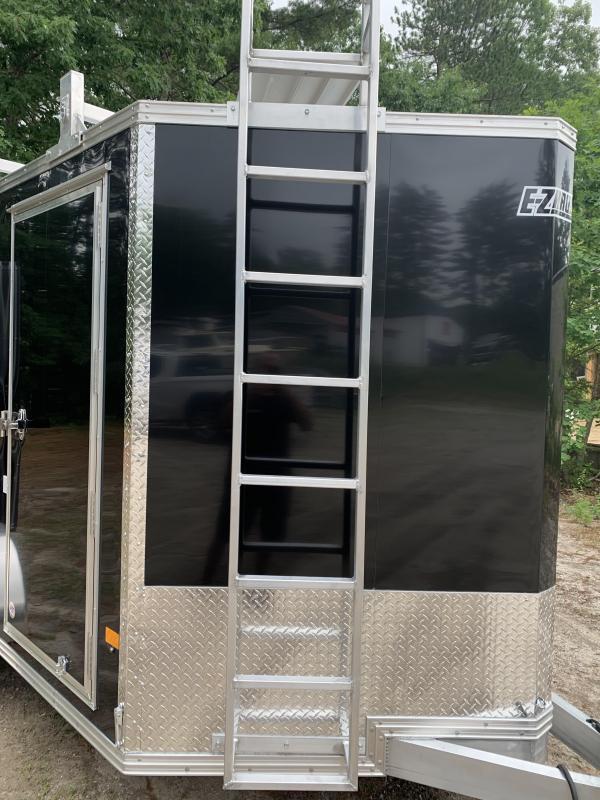 "2020 EZ Hauler 7x12 +36"" v-nose Ultimate Contractor Aluminum trailer/6"" extra height"