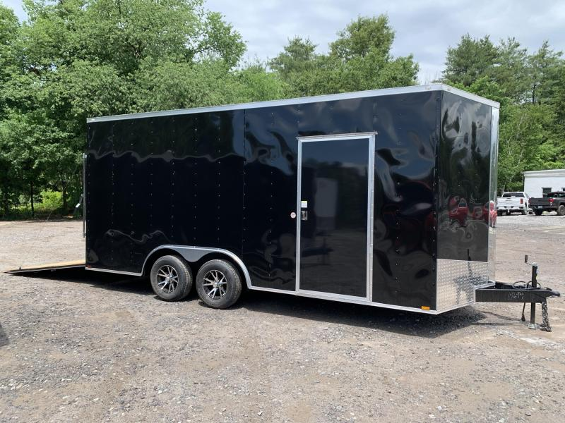 "2020 Spartan 8.5X18 +2ft V trailer/18"" extra height/undercoated"