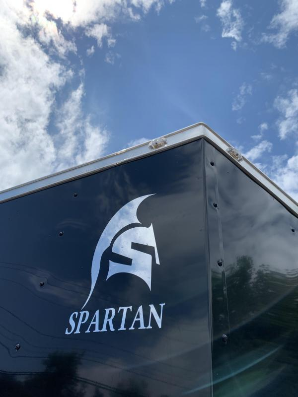 """2020 Spartan 8.5X18 +2ft V trailer/18"""" extra height/undercoated"""