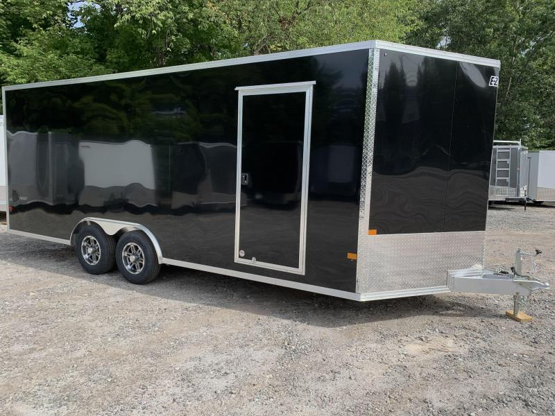 "2021 EZ Hauler 8.5x20 +3 ft V-nose/Aluminum Car Hauler/7000gvwr/12"" extra height"
