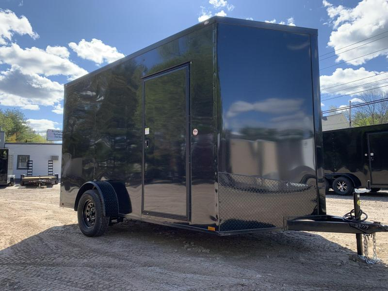 """2021 Spartan 7X12 +2ft Vnose/12"""" extra height/blackout/braked axle/undercoated/3500gvwr"""