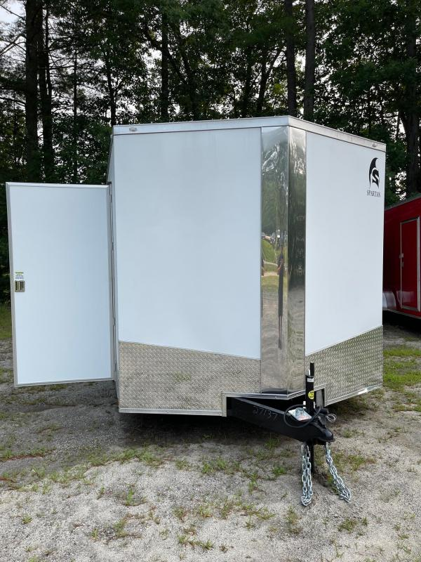 """2021 Spartan 8.5X24+2ft V trailer/12"""" extra height/undercoated/9990gvwr"""