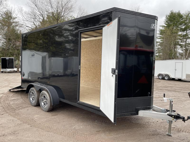 "2021 EZ Hauler 7X16+2 ft V-Nose DuraLite/BLACKOUT/Fully aluminum trailer/12"" extra height"