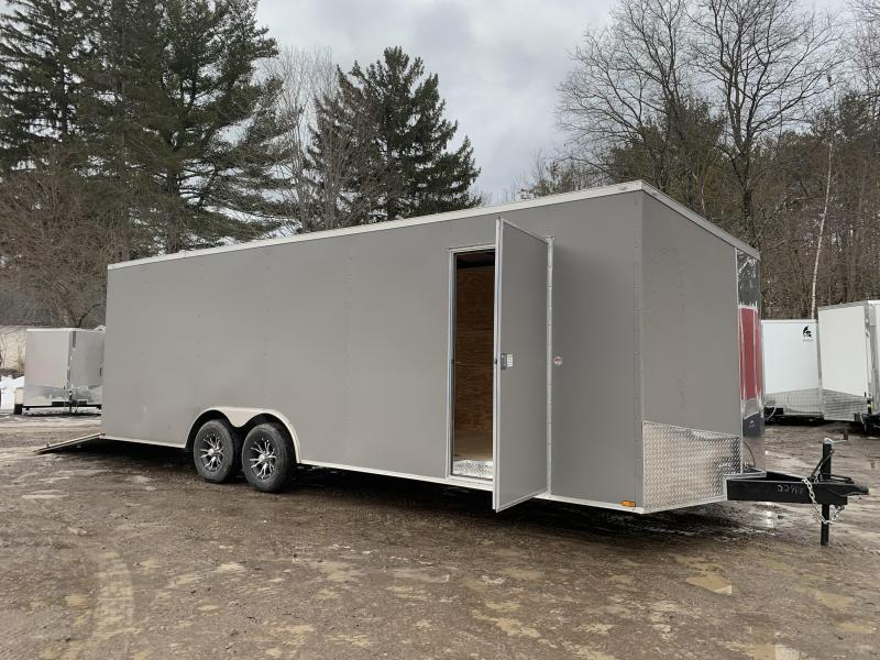 """2021 Spartan 8.5X24+2ft V trailer/12"""" extra height/undercoated/9990gvwr/.040 paneling"""