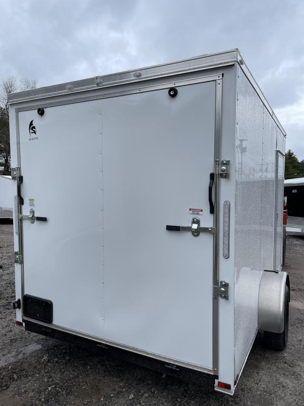 """2021 Spartan 7X12 +2ft Vnose/12"""" extra height/braked axle/undercoated/ramp"""