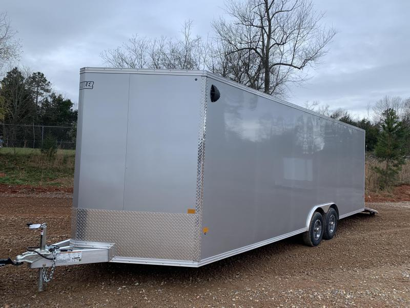 "2021 EZ Hauler 8.5x24 +3 ft V-nose/Aluminum Car Hauler/9990gvwr/12"" extra height"
