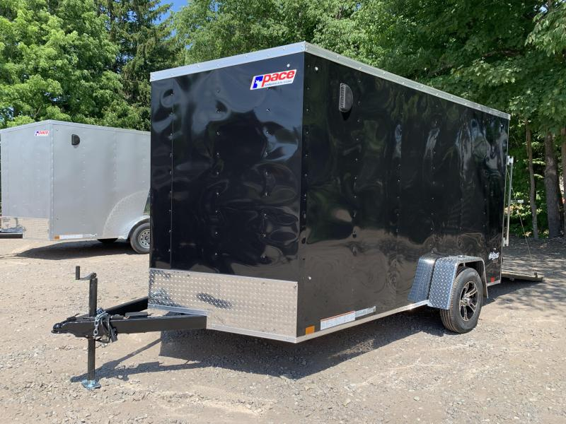 """2021 Pace American 7x12 +2ft v-nose/undercoated/6"""" extra height"""