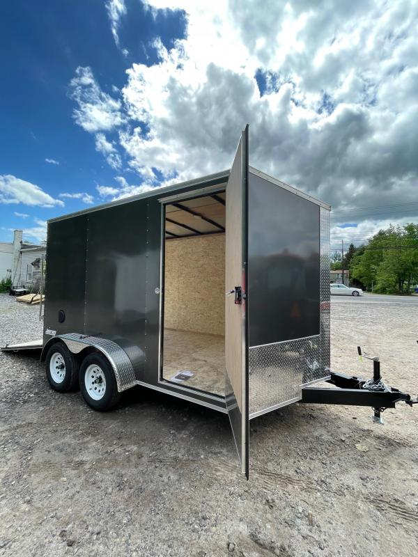 """2021 Pace American 7X12 +2ft v-nose/12"""" extra height/undercoated"""