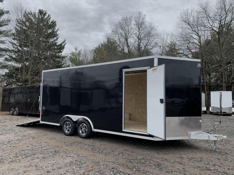"2021 EZ Hauler 8.5x18 +3 ft V-nose/Aluminum Car Hauler/7000gvwr/12"" extra height"