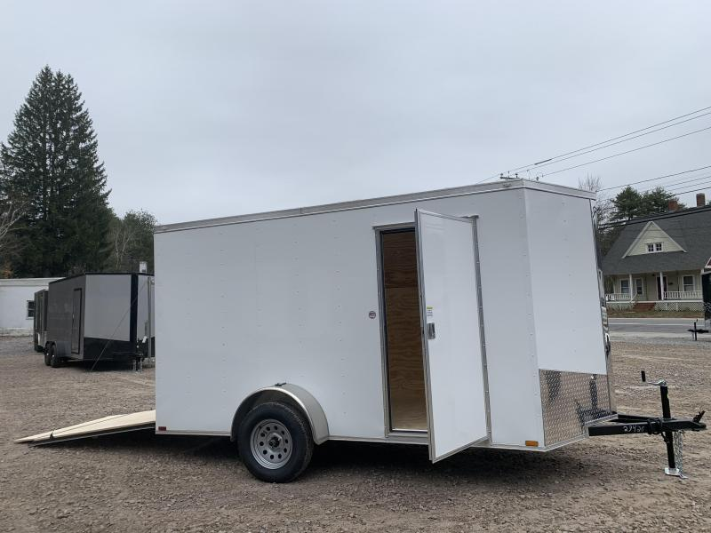 """2020 Spartan 6x12 +2ft V-nose trailer/6"""" extra height/undercoated"""