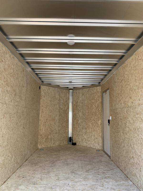 "2021 EZ Hauler 7X14 +3 ft V-Nose Aluminum trailer / 12"" extra height/ Ultimate Contractor"