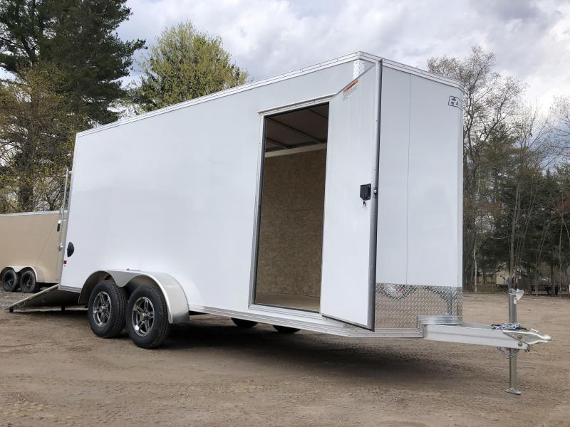 "2021 EZ Hauler 7X16+2 ft V-Nose DuraLite/Fully aluminum trailer/12"" extra height"