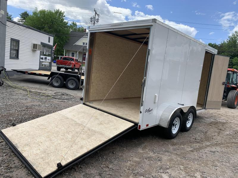 """2022 Pace American DING* 7X14 +2ft v-nose/12"""" extra height/undercoated"""
