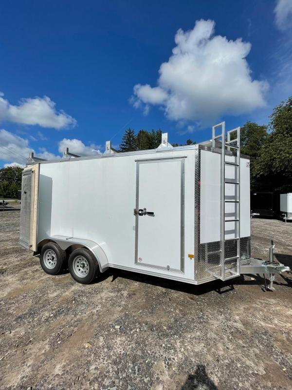 2021 EZ Hauler 7X14 +3 ft V-Nose Aluminum trailer ultimate contractor