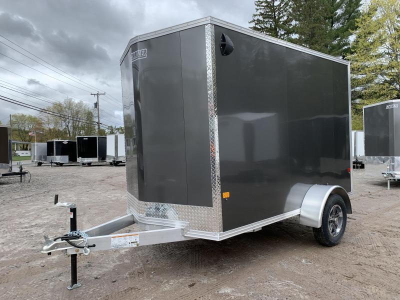 "2021 EZ Hauler 6X10 +12"" V-Nose Aluminum trailer / 6"" extra height"