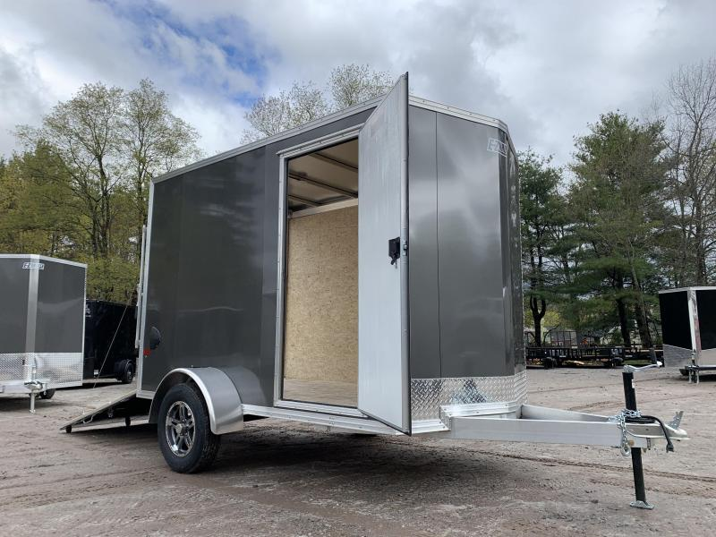 "2021 EZ Hauler 6X10 +12"" V-Nose Aluminum trailer / 6"" extra height"