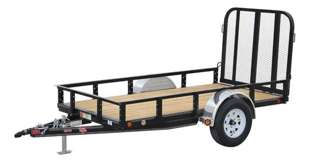 2021 PJ Trailers 60 in. Single Axle Channel Utility (U6) Utility Trailer