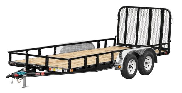 2021 PJ Trailers 77 in. Tandem Axle Channel Utility (UK) Utility Trailer