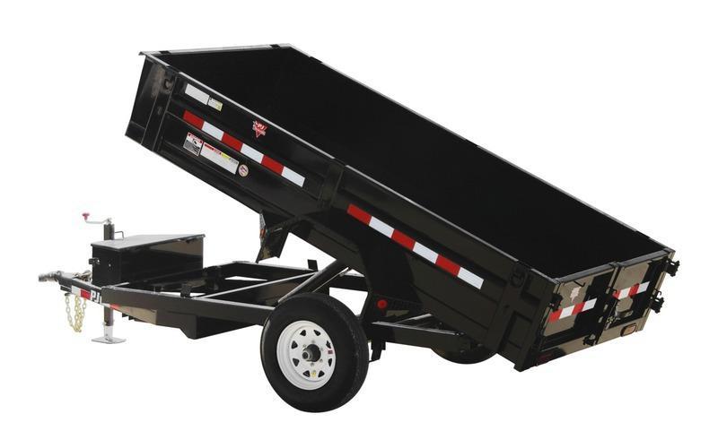 "2021 PJ Trailers 60"" x 10' 60"" Utility Dump (D5) Dump Trailer"