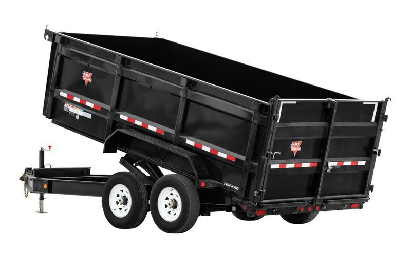 "2021 PJ Trailers 83"" x 16' 83"" Low-Pro High Side Dump (DM) Dump Trailer"