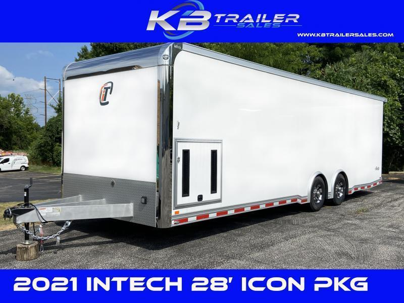 COMING SOON! 2022 28' inTech LOADED WITH OPTIONS All Aluminum Racecar Trailer w/ ICON PACKAGE-DUE JUNE 2021