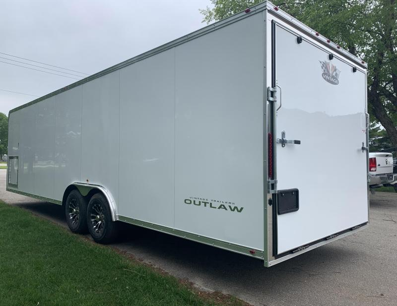 2020 28' Vintage Custom Enclosed Trailer