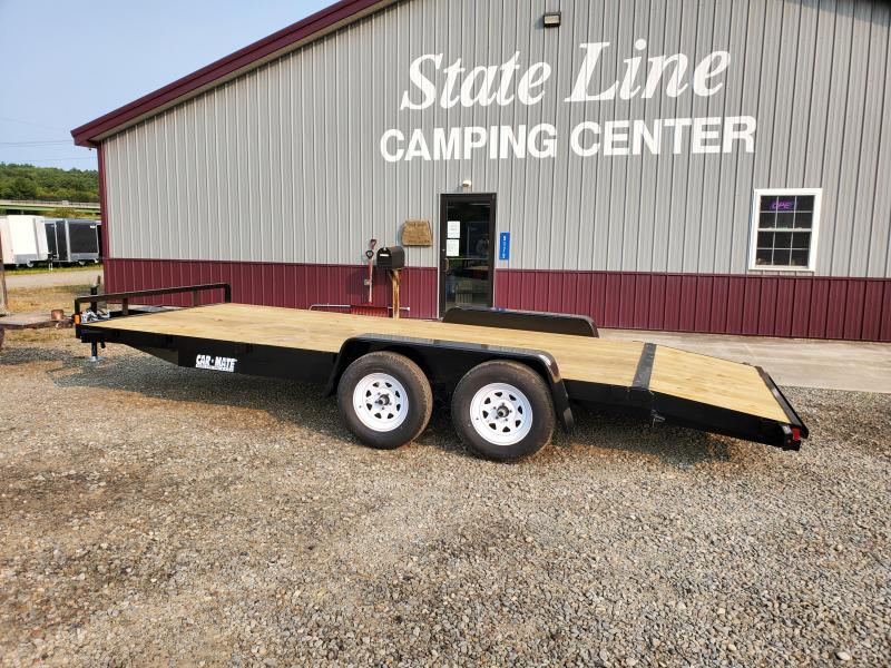 2021 Car Mate Trailers CM818A-CT/W Full Treated Plank Deck Car / Racing Trailer