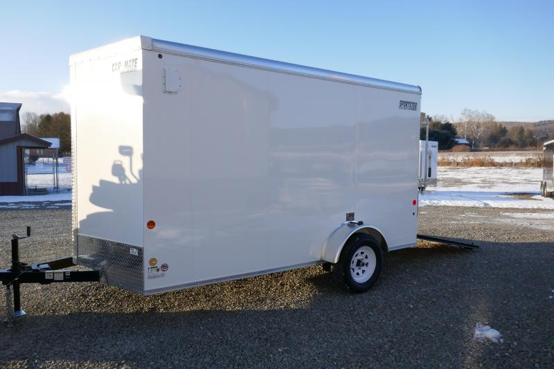 2019 Car Mate Trailers CM712ECV Single Axle Enclosed Cargo Trailer