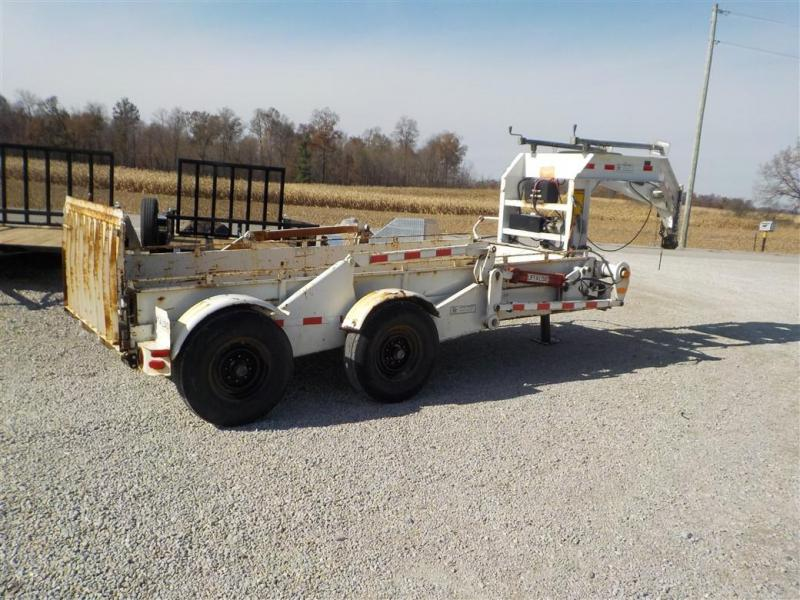 1996 LIFETIME EPT4-614 HYDRAULIC DROP DECK Equipment Trailer ** USED **