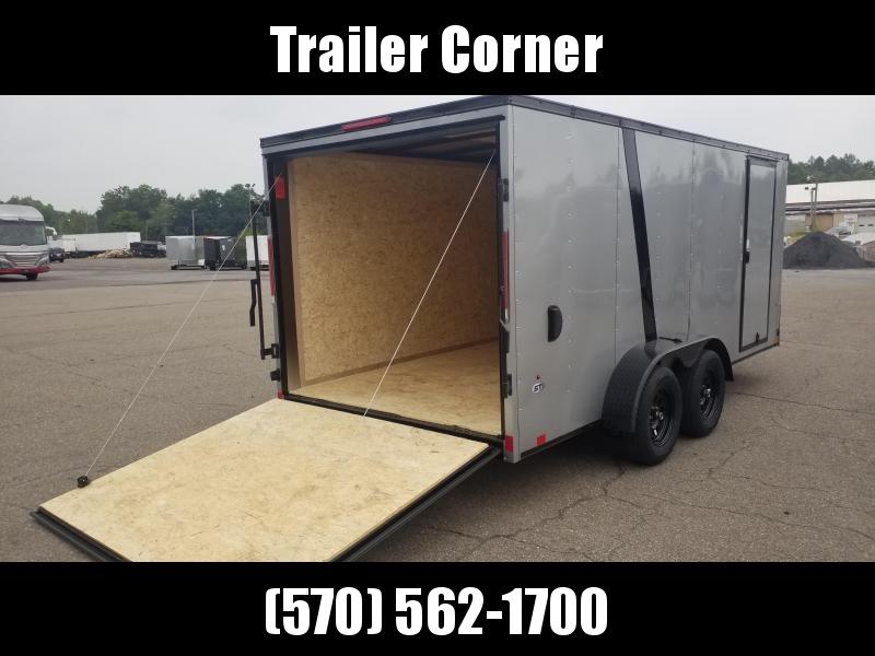 2022 Look Trailers STLC 7X16 - BLACKED OUT - RAMP DOOR Enclosed Cargo Trailer