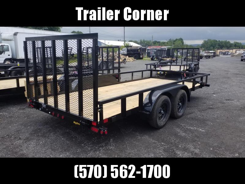2022 Big Tex Trailers 70PI 7X16 7K - TUBE TOP Utility Trailer