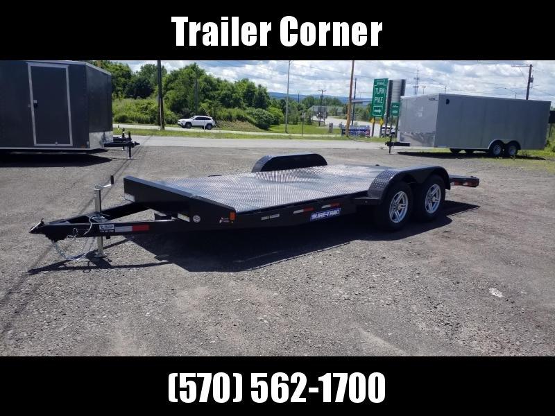 2021 Sure-Trac 7X18 7K STEEL DECK Car / Racing Trailer