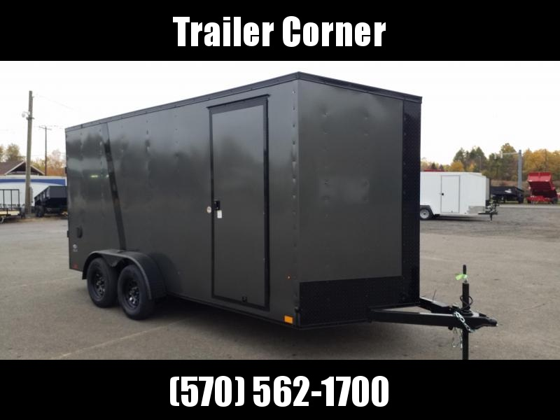 2021 Look Trailers STLC 7X16- BLACKED OUT - UTV HEIGHT - RAMP Enclosed Cargo Trailer